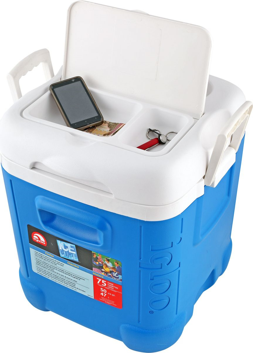 Изотермический контейнер Igloo Ice Cube, 00032301, черный, белый, 36 х 28 х 33 см цены