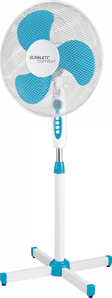 Напольный вентилятор Scarlett Comfort SC-SF111B12, белый scarlett sc 371 white вентилятор