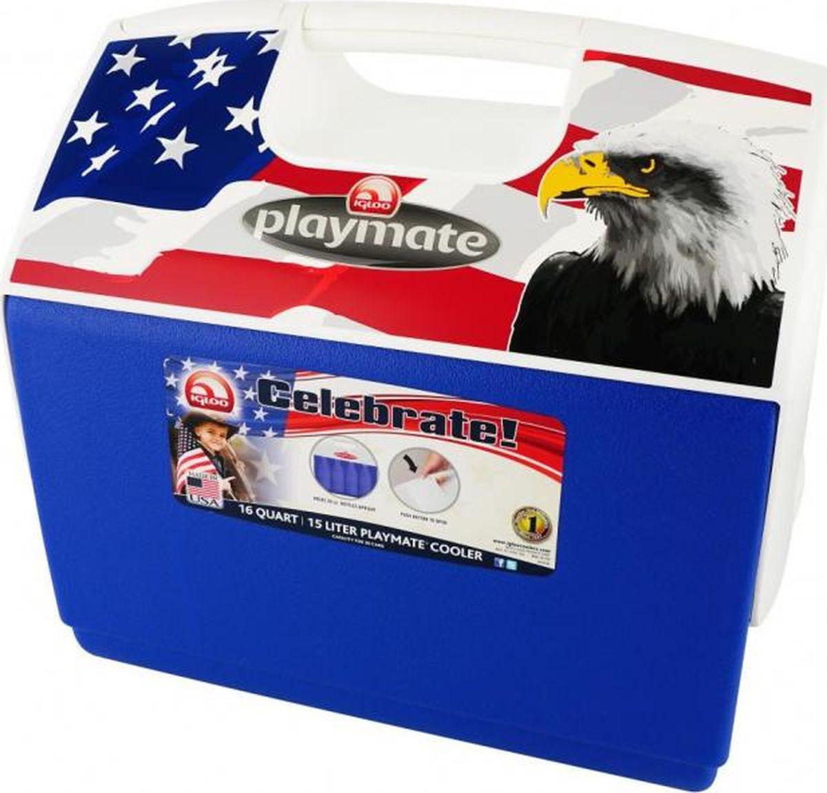 Изотермический контейнер Igloo Playmate, 00043860, белый, синий, красный, 40 х 26 х 38 см igloo изотермический контейнер igloo playmate pal jucetwh