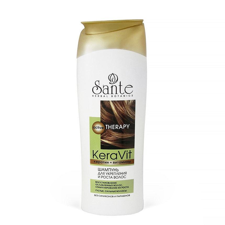 Шампунь для волос Sante защита цвета окрашенных Keravit 400 мл