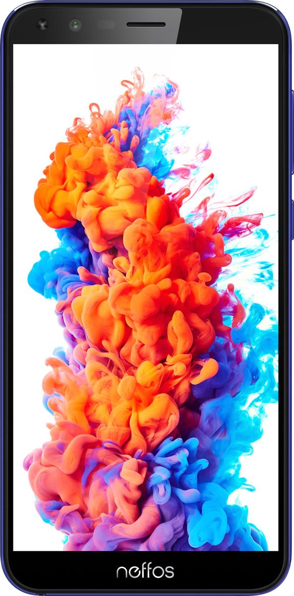 Смартфон Neffos C5 Plus 1/8GB, голубой сотовый телефон tp link neffos c5 plus 1 8gb blue