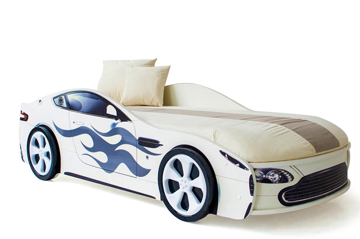 """Кровать детская Бельмарко """"Бондмобиль"""", с матрасом, 43244, белый"""