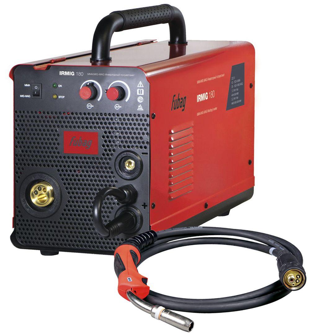 Сварочный аппарат FUBAG IRMIG 180, красный, черный инверторный сварочный полуавтомат fubag irmig 180 с горелкой fb 250