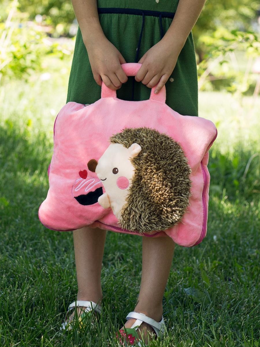 Подушка на сиденье Клювонос Подушка-одеяло, розовый