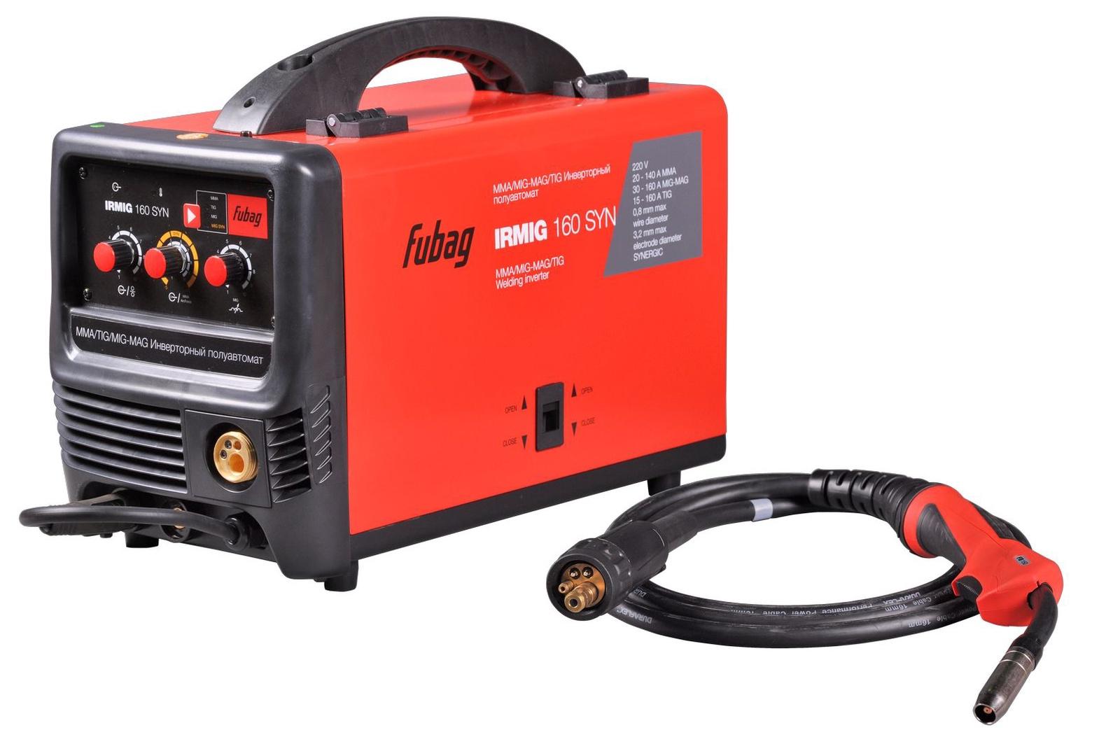 Сварочный аппарат FUBAG IRMIG 160 SYN, красный, черный