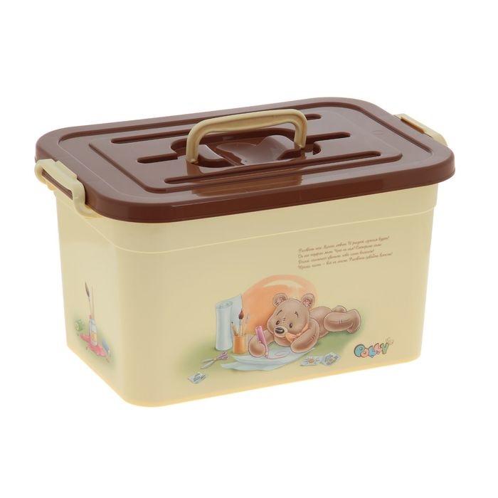 Ящик для игрушек Полимербыт POLLY 10 л., бежевый