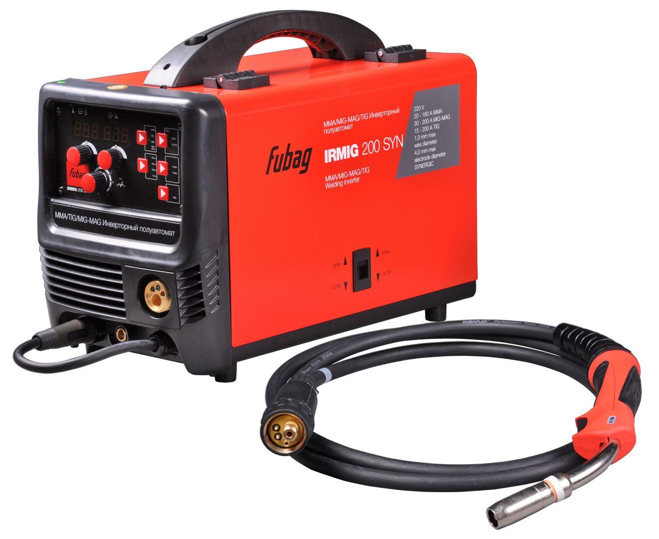 Сварочный аппарат FUBAG IRMIG 200 SYN, красный, черный