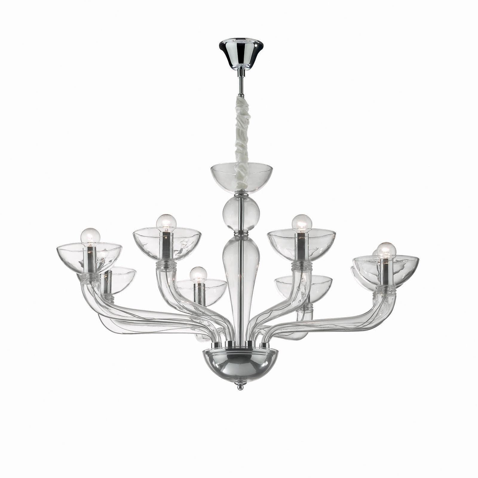 Подвесной светильник Ideal Lux SP8 TRASPARENTE ideal lux подвесная люстра ideal lux casanova sp8 trasparente