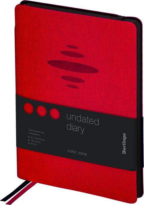 Ежедневник Berlingo Color Zone недатированный, A5, в линейку, 136 листов, красный