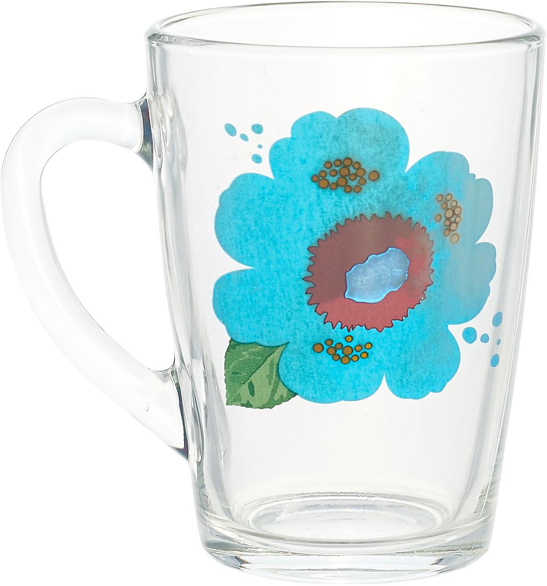 Кружка ОСЗ Чайная Яркие цветы, OCZ1334/1LTFLOW, 300 мл кружка осз чайная радужные цветы 300 мл