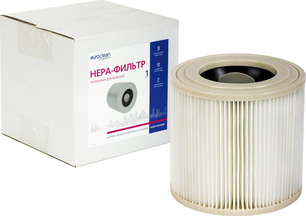 Euroclean KHSM-WD2000 фильтр складчатый многоразовый для пылесоса KARCHER (аналог 6.414-552.0) euroclean bgpm 35 55 фильтр складчатый для пылесоса bosch аналог 2 607 432 033