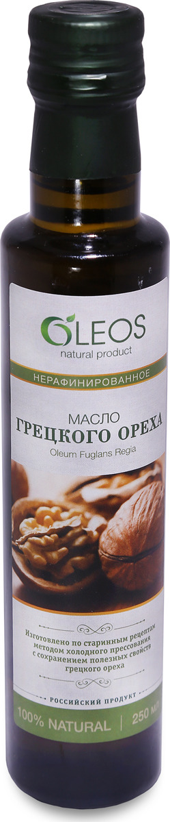 Масло грецкого ореха Oleos, 250 мл роза масло эфирное 10мл ооо олеос