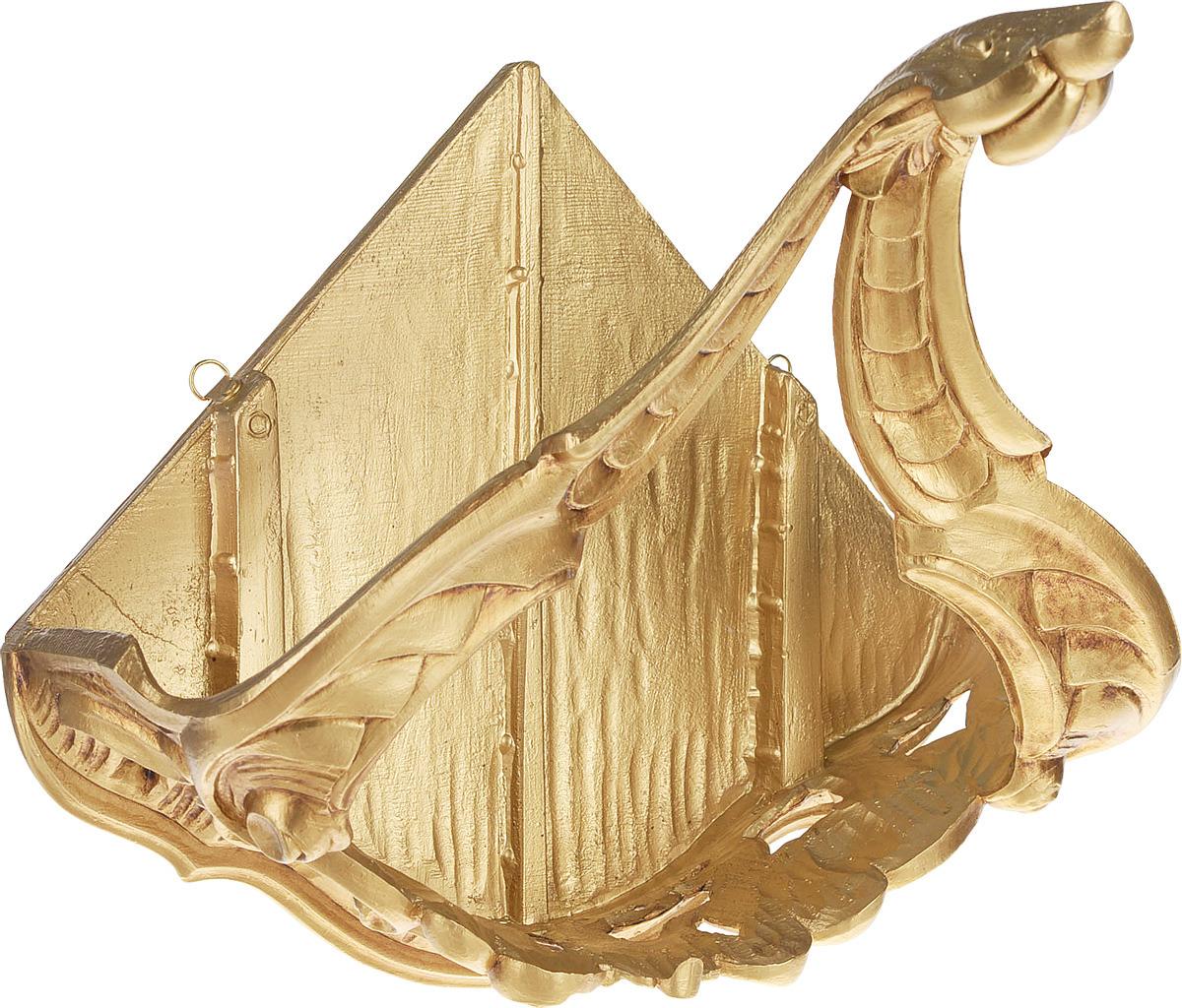 Консоль Lefard, угловая, 290-009, золотой, 34 x 24 х 29 см