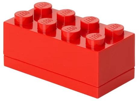 Ящик для игрушек LEGO Кубик Mini Box 8, 40121730, красный