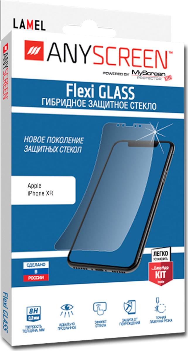 Защитное стекло AnyScreen Flexi Glass для Apple iPhone XR, прозрачный
