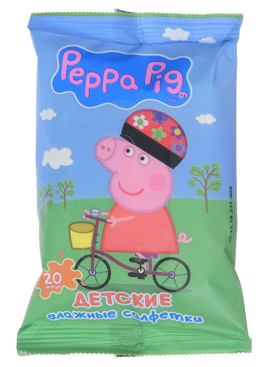 Влажные детские салфетки Mix (4 SKU) в шоубоксе Peppa Pig 30161 20 шт