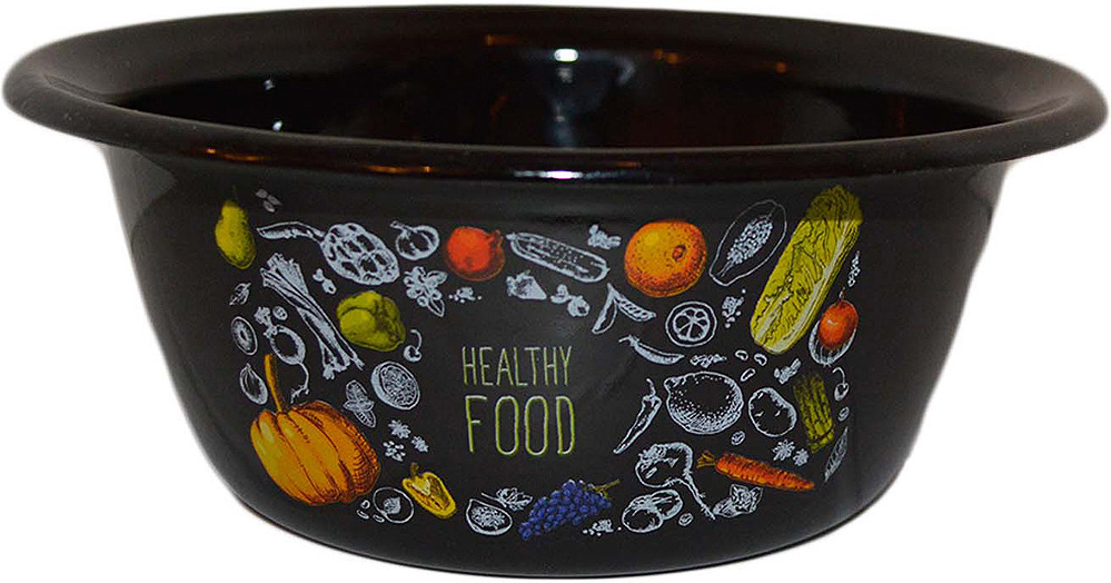 Миска Appetite Healthy Food, 1с5с, черный, 800 мл
