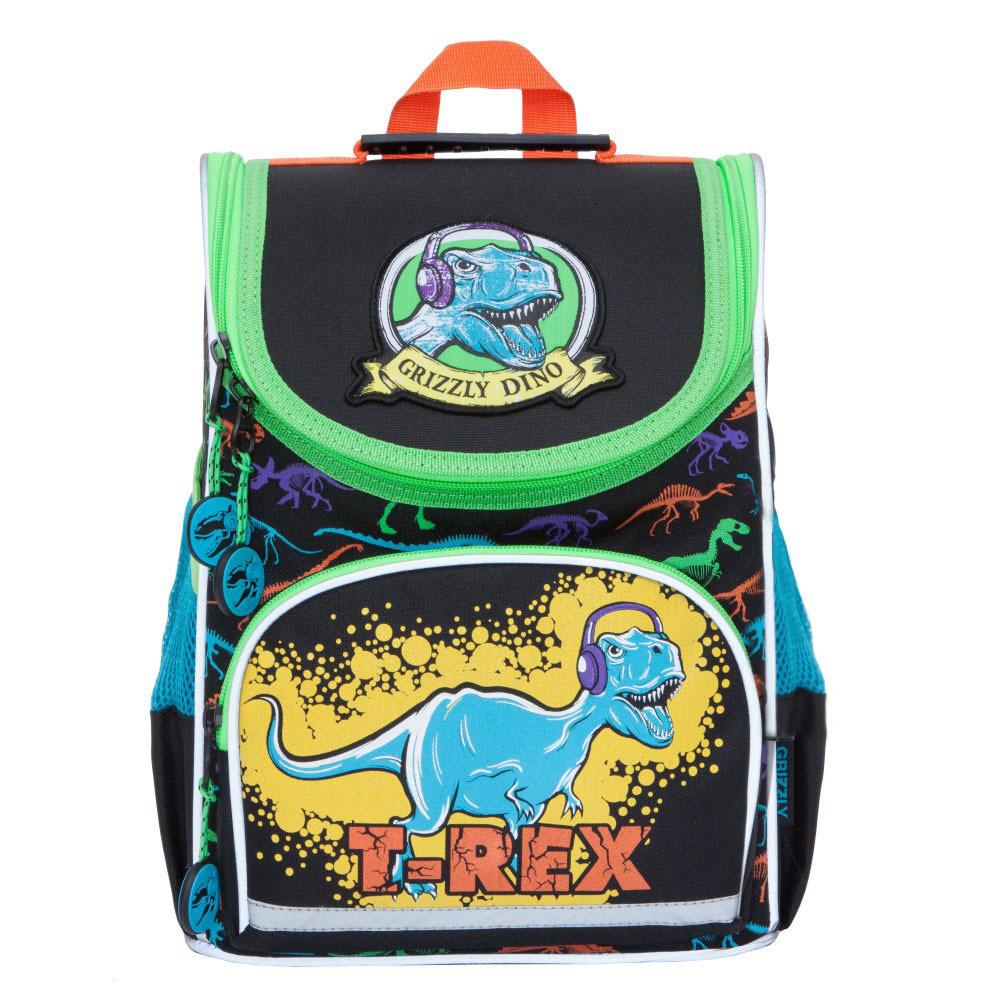 все цены на Grizzly Рюкзак школьный с мешком цвет черный RA-870-6 онлайн