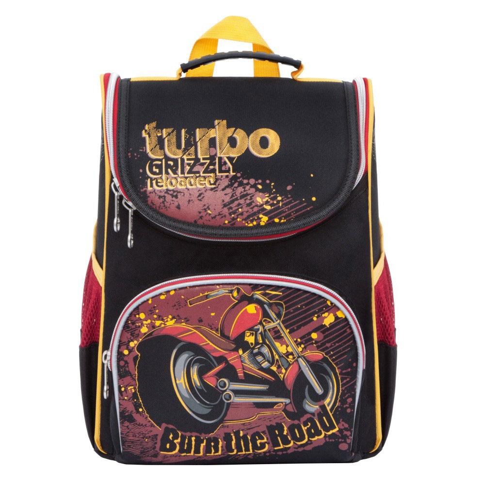 Grizzly Рюкзак школьный с мешком цвет черный красный
