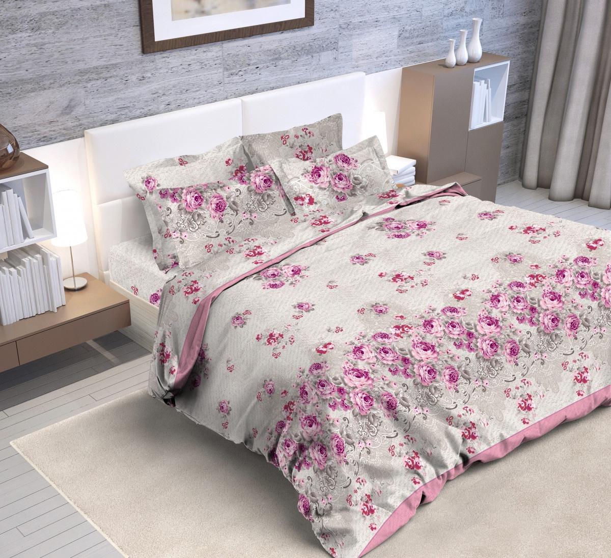 Комплект постельного белья BUTTERFLY Поплин (ПК4) рис.7845/2, 2-спальный с европростыней