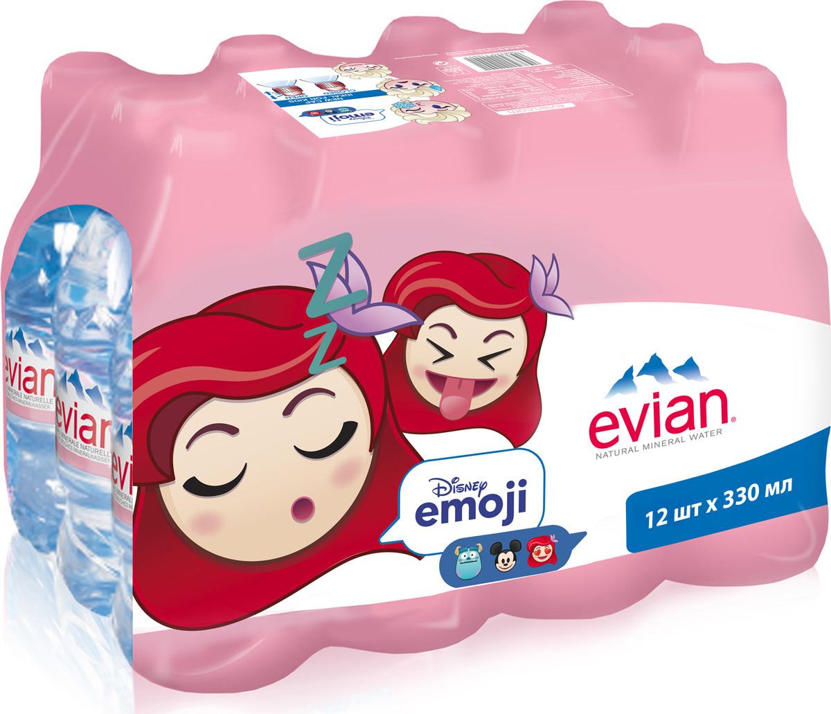 Вода Evian детская природного происхождения, 12 шт по 0,33 л