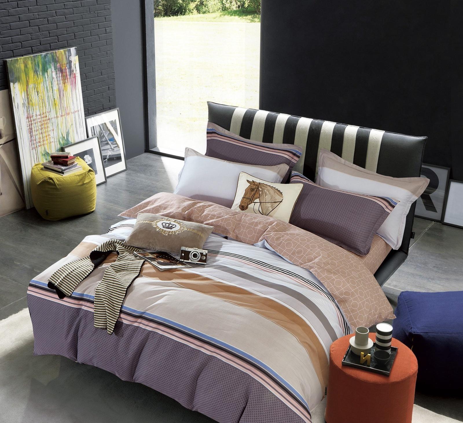 Комплект постельного белья BUTTERFLY сатин (СК1) рис.509, 1,5-спальный