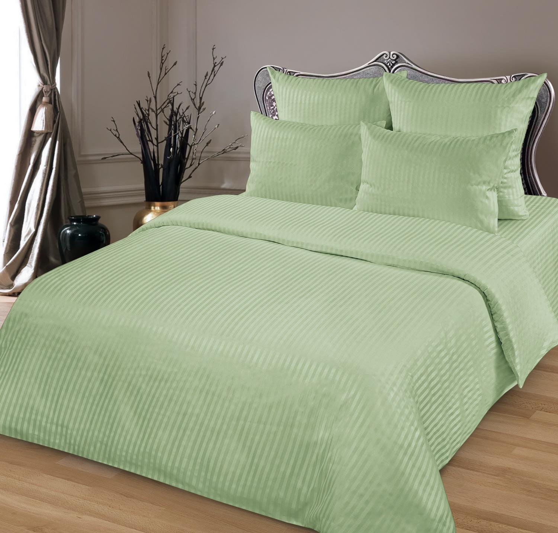 Комплект постельного белья BUTTERFLY сатин гладкокрашенный (СК1) рис Олива, 1,5-спальный