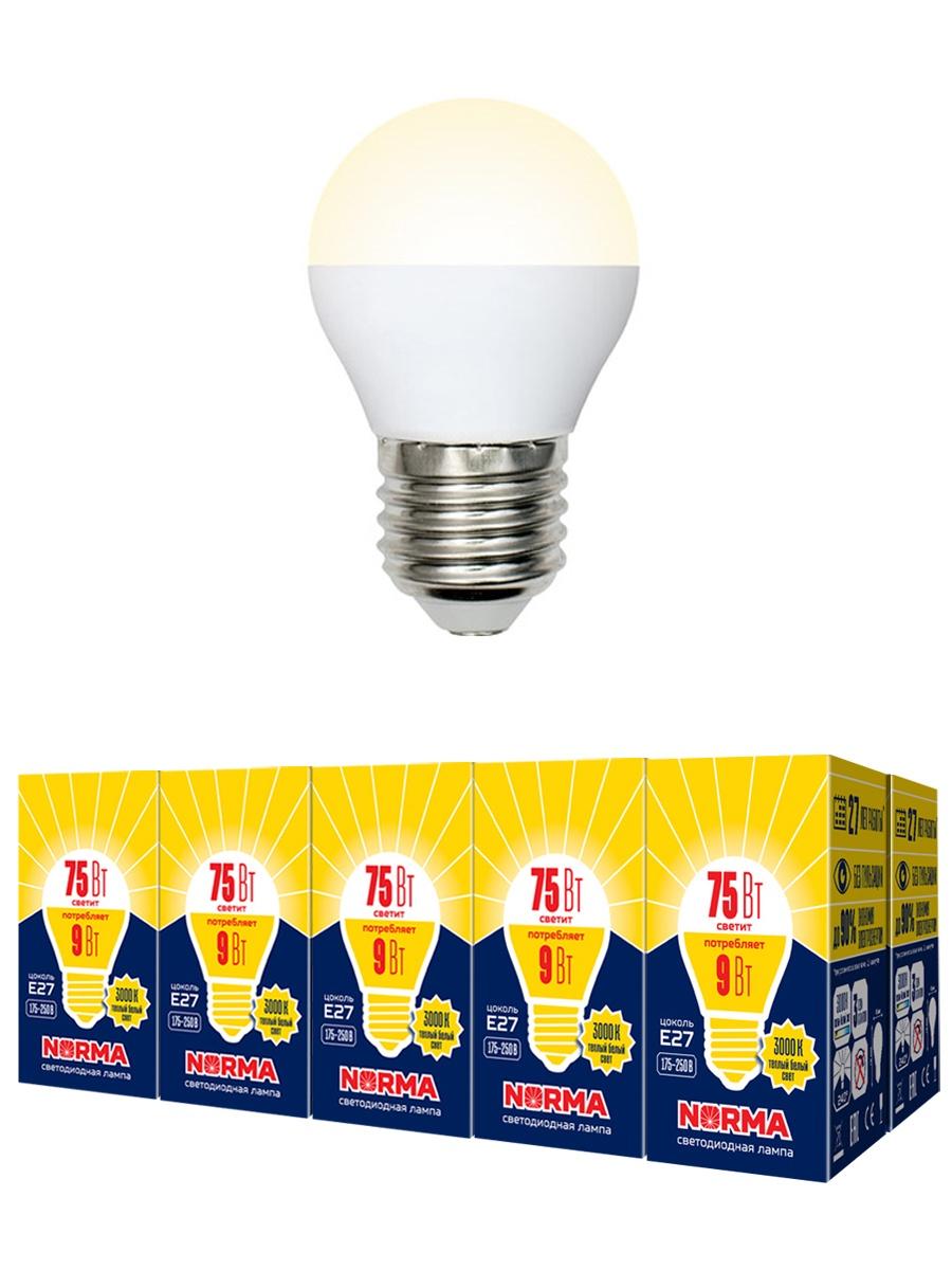 купить Лампочка Volpe, Volpe Комплект из 10 светодиодных ламп LED-G45-9W/WW/E27/FR/NR Форма
