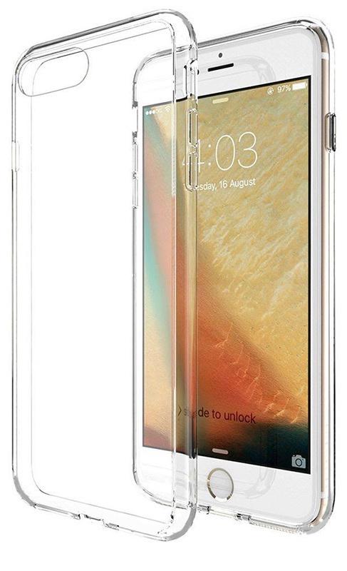 Чехол для сотового телефона Gurdini Чехол накладка iPhone 7/8 силикон плотный 0,4 прозрачный, прозрачный