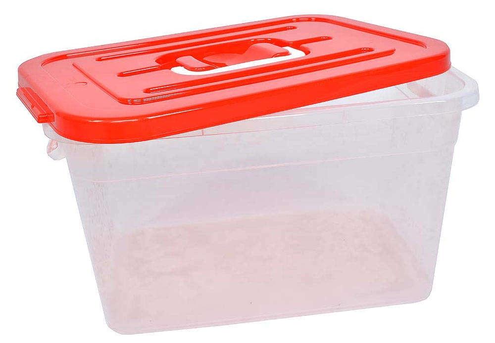 Контейнер для хранения вещей Полимербыт КОНТЕЙНЕР ДЛЯ ХРАНЕНИЯ 310*200*180 6.5л красный, прозрачный, красный полимербыт красный стул малыш