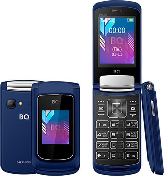 Мобильный телефон BQ 2433 Dream Duo, темно-синий мобильный телефон bq 2433 dream duo черный 2 4 64 мб