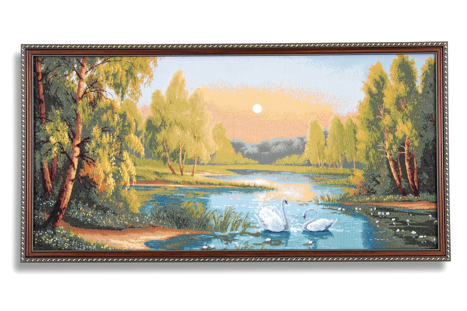 Картина Магазин гобеленов лебединое озеро 50*95 см, Гобелен магазин 95 градусов все для бани