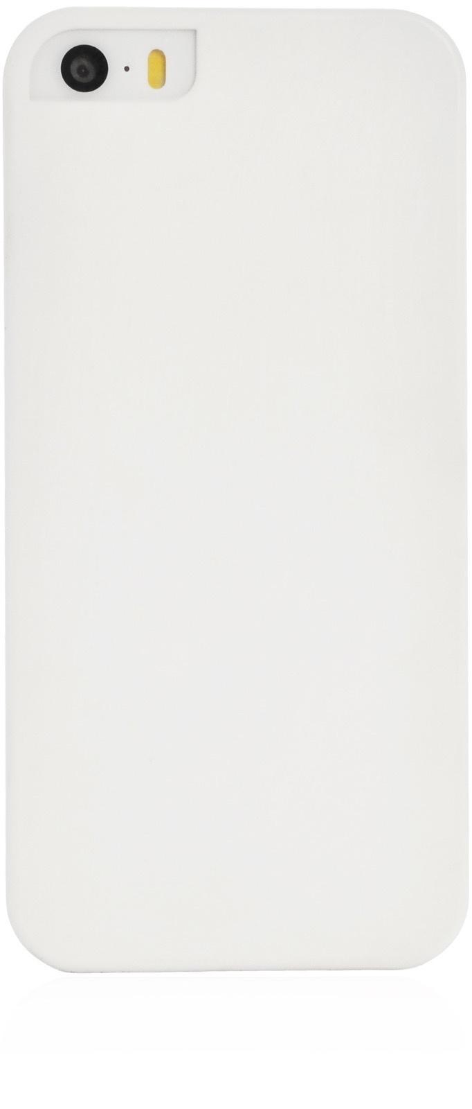 Чехол iNeez soft touch накладка пластик c вырезом лепесток для Apple iPhone 5/5S/SE,906314,белый