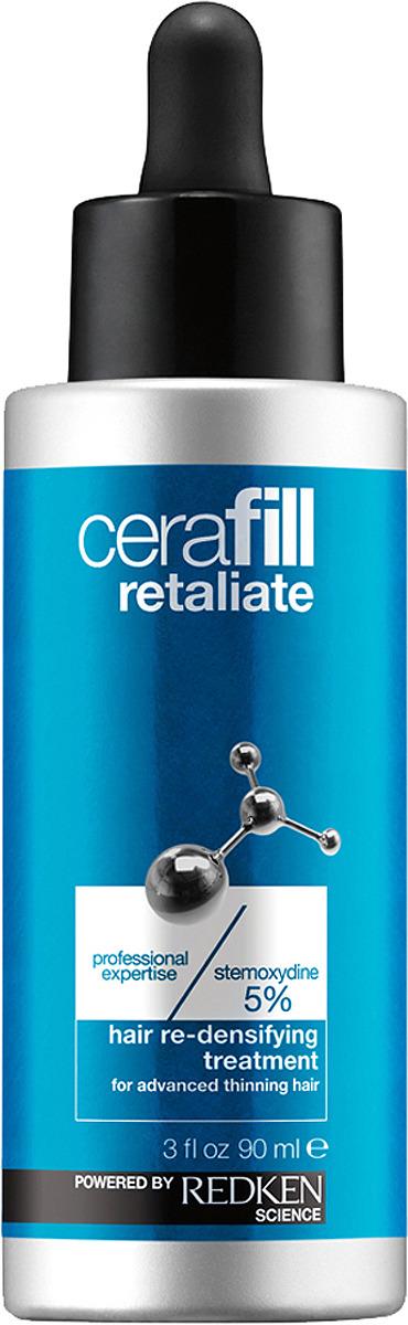 Redken Cerafill Retaliate Ежедневный несмываемый уход для роста волос, 90 мл redken cerafill retaliate stemoxydine 5% ежедневный несмываемый уход