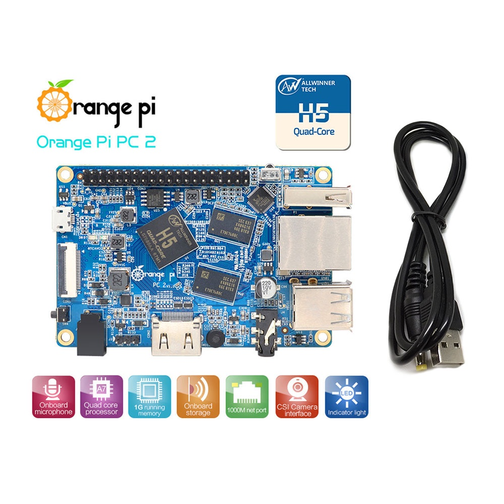 Микрокомпьютер Orange Pi PC2, синий Orange