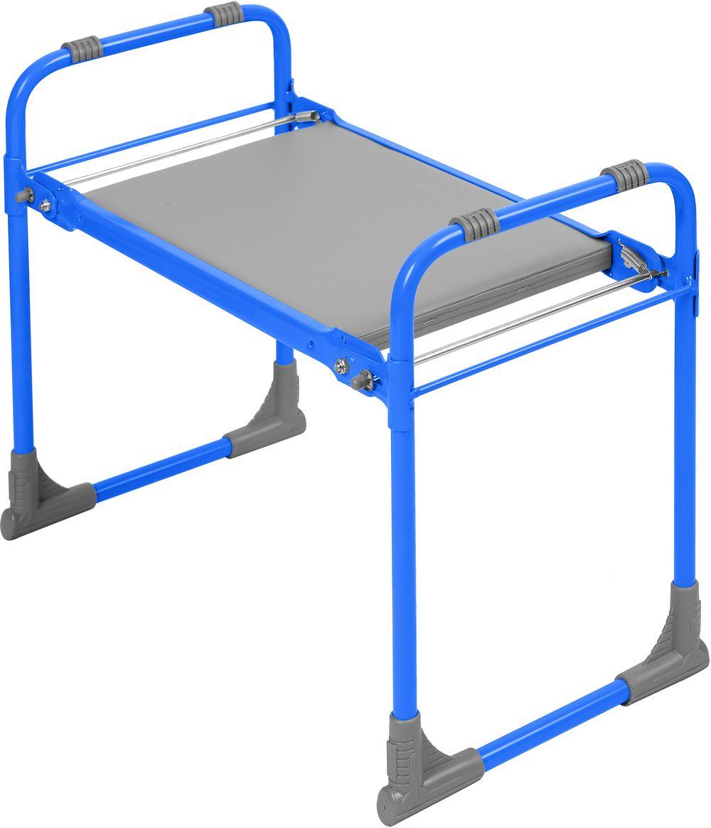 Садовая скамья Nika Скамейка Перевертыш с мягким сиденьем, голубой