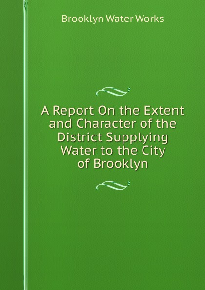Brooklyn Water Works A Report On the Extent and Character of the District Supplying Water to the City of Brooklyn rudolph hering report to the hon samuel h ashbridge mayor of the city of philadelphia on the extension and improvement of the water supply of the city of philadelphia