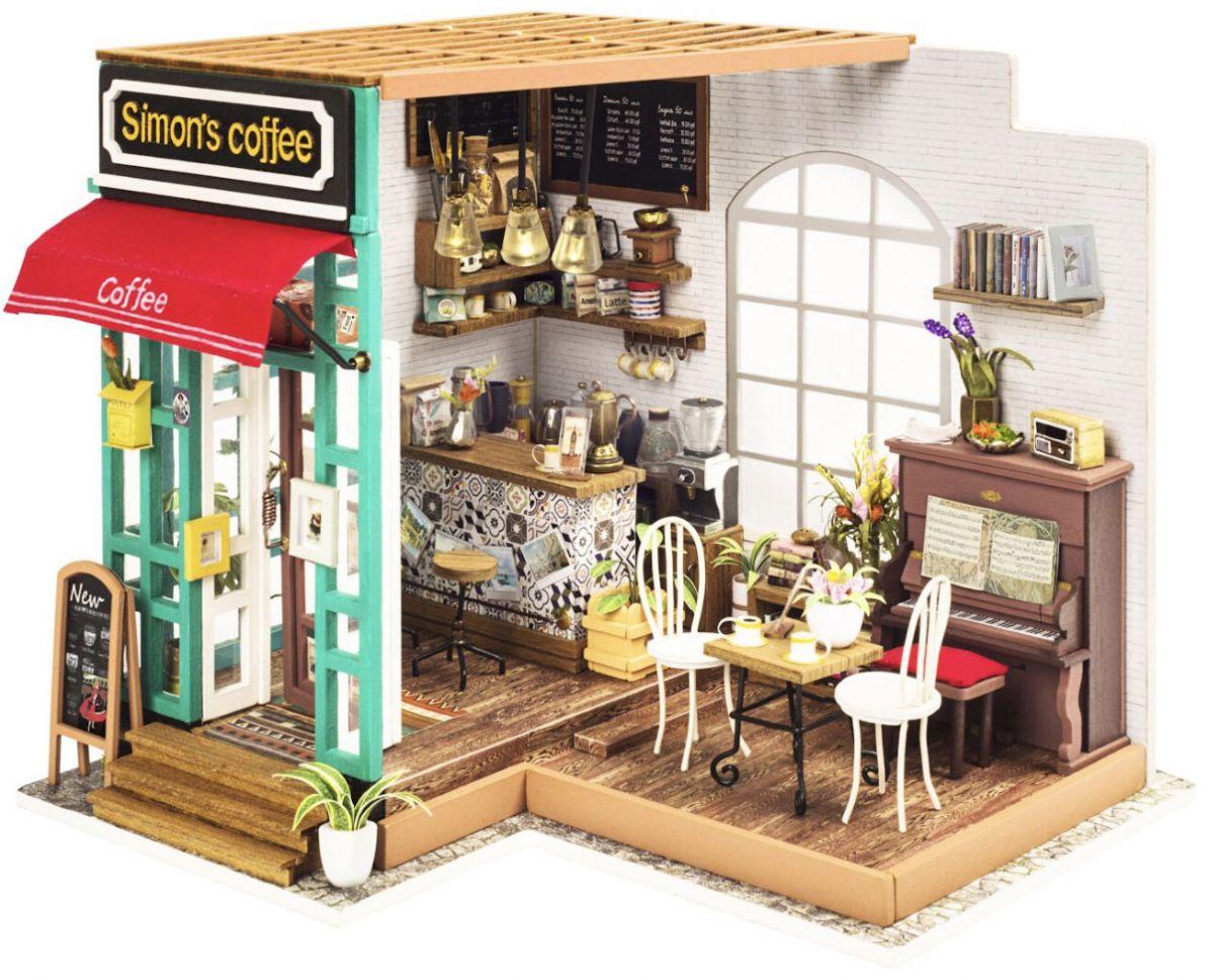 Модель миниатюра Robotime Румбокс Кофейня robotime румбокс diy house станция мороженного