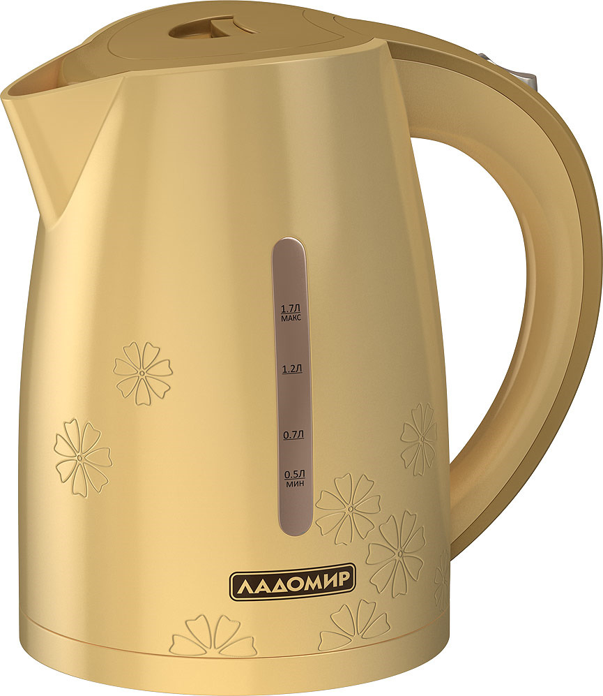 лучшая цена Электрический чайник Ладомир АА422, бежевый, 1,7 л