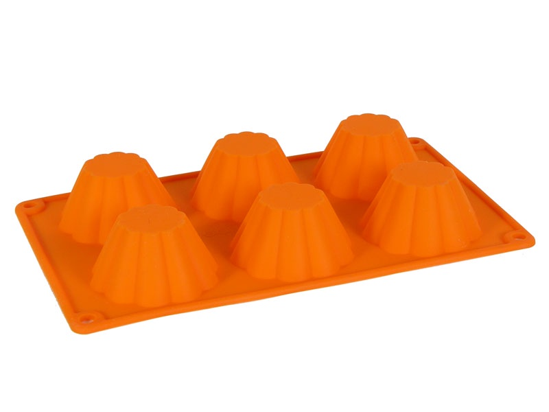 Форма для выпечки Migliores Для выпечки кексов и маффинов, оранжевый формы для выпечки oursson форма для выпечки противень
