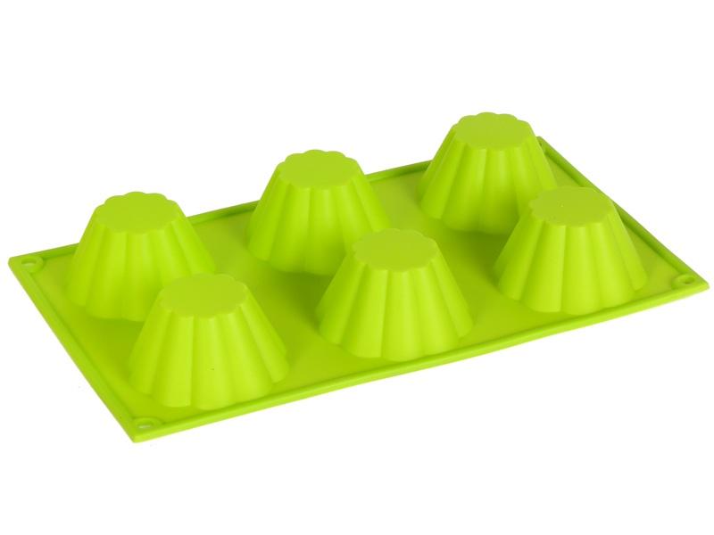 Форма для выпечки Migliores Для выпечки кексов и маффинов, зеленый формы для выпечки oursson форма для выпечки противень