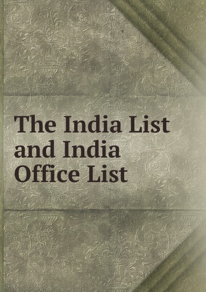 The India List and India Office List india black
