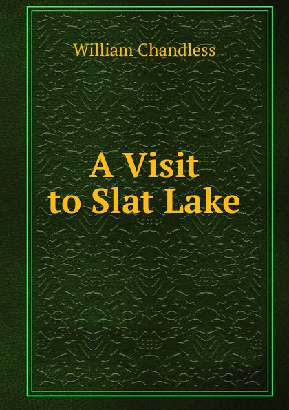 William Chandless A Visit to Slat Lake slat conveyor belt