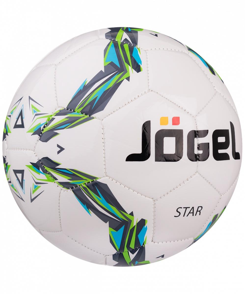 Мяч футбольный Jogel Футзальный мяч JF-210 Star №4, белый