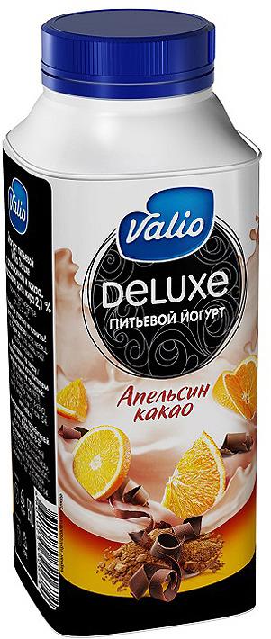 Йогурт питьевой Valio Deluxe с апельсином и какао, 330 г