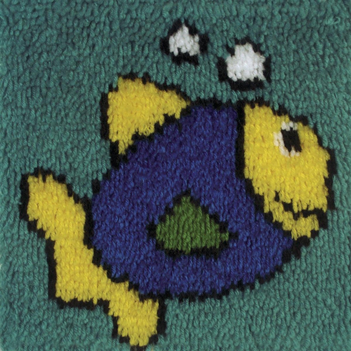 """Набор для вышивания Caron """"Синяя рыбка"""" (30 х 30 см.)"""