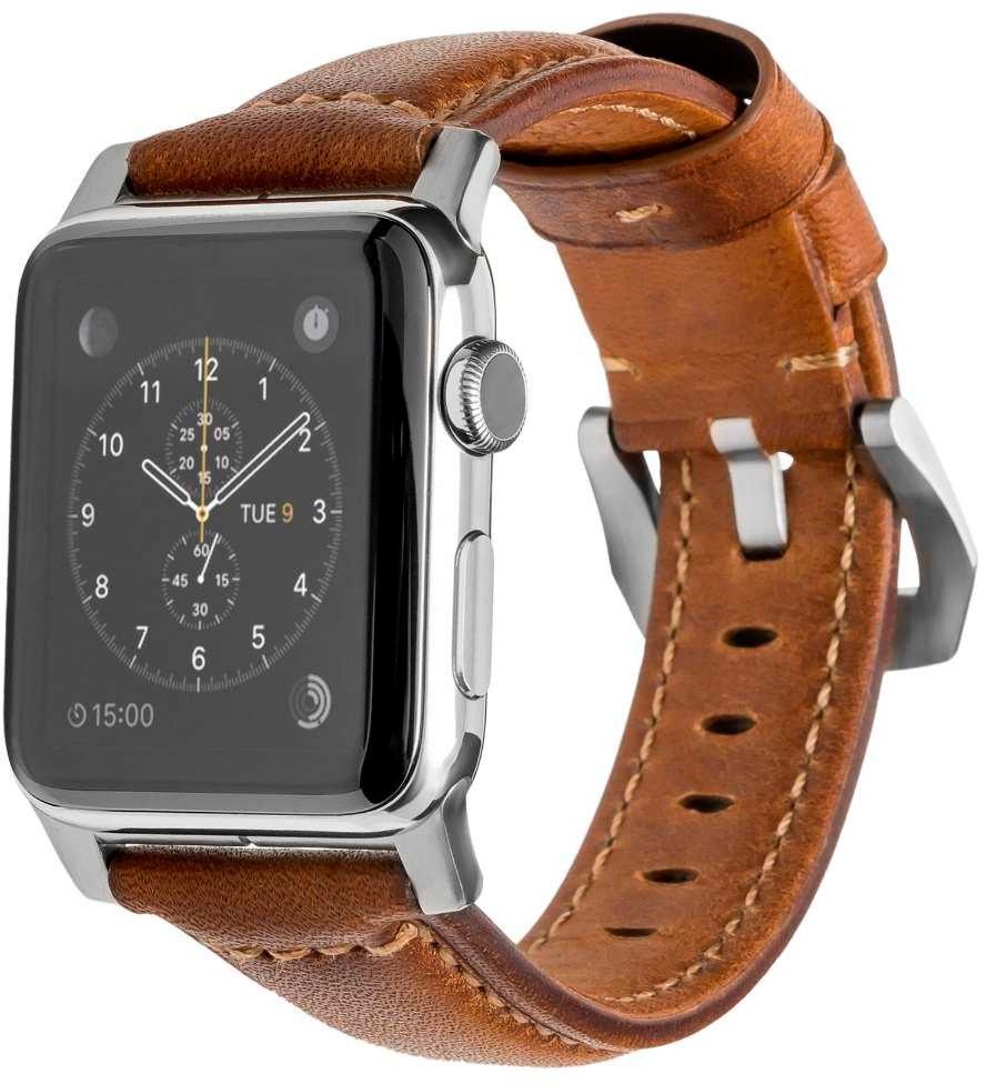 Ремешок для смарт-часов Nomad Traditional Strap для Apple Watch 44mm/42mm, коричневый аксессуар ремешок gurdini sport silicone для apple watch 42mm 44mm rose red 906490