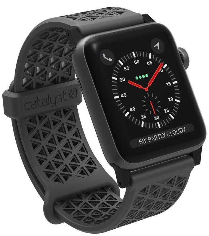Ремешок для смарт-часов Catalyst Sport Band для Apple Watch 42mm, серый аксессуар ремешок gurdini sport silicone для apple watch 42mm dark teal 906173