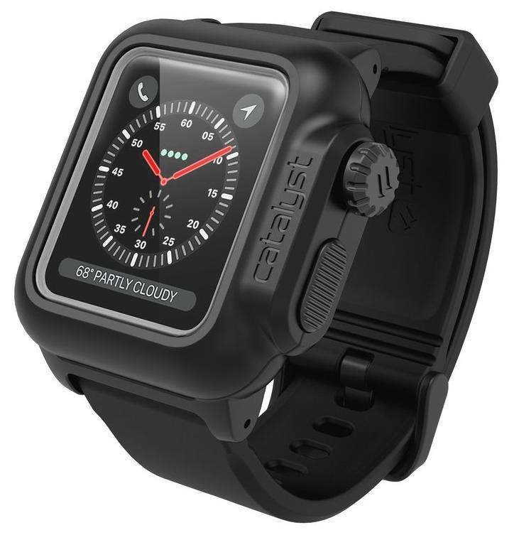Ремешок для смарт-часов Catalyst WaterProof для Apple Watch 3/2 38 mm, черный аксессуар чехол eva silicone для apple watch 38mm transparent avc005t
