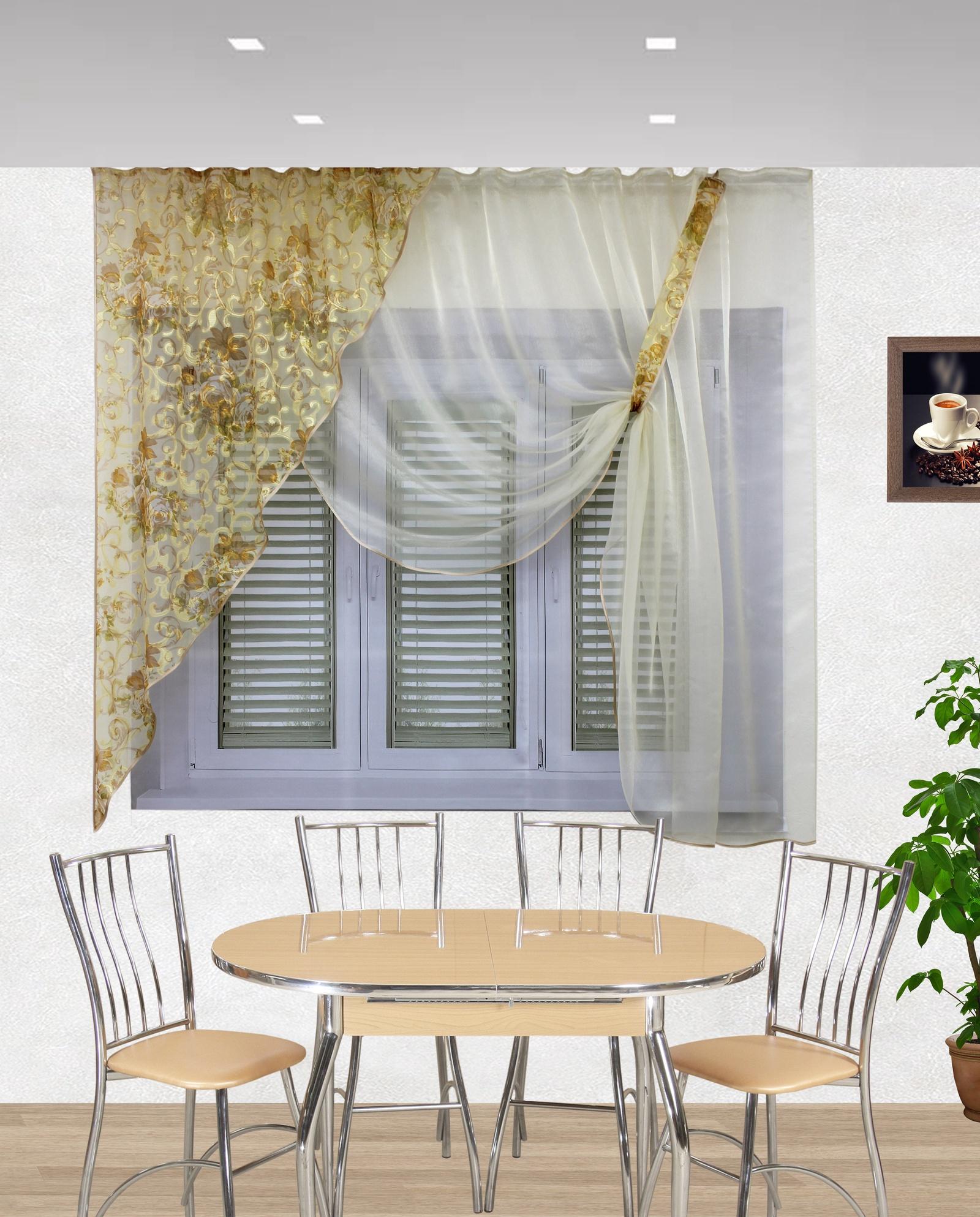 Картинки современные шторы на кухню